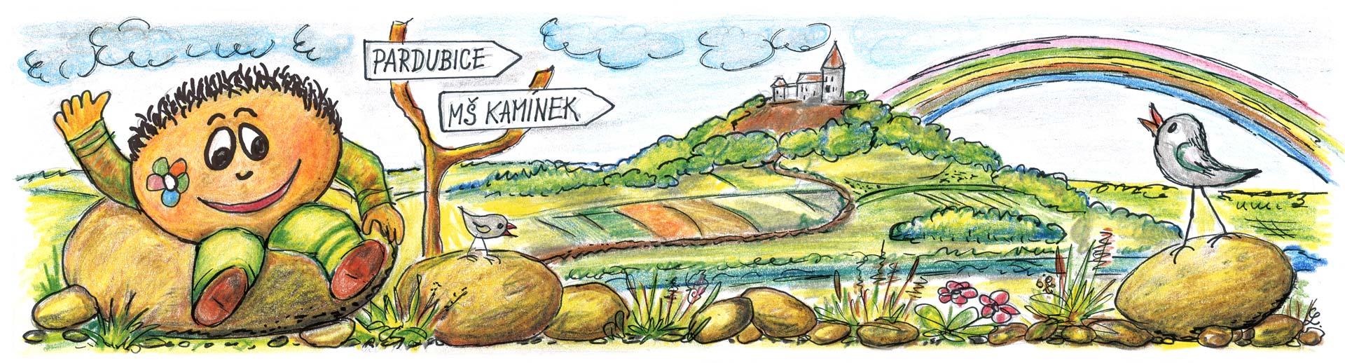 MŠ kamínek - úvodní ilustrace